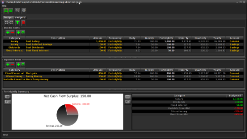 A screenshot of the PersonalFinancier